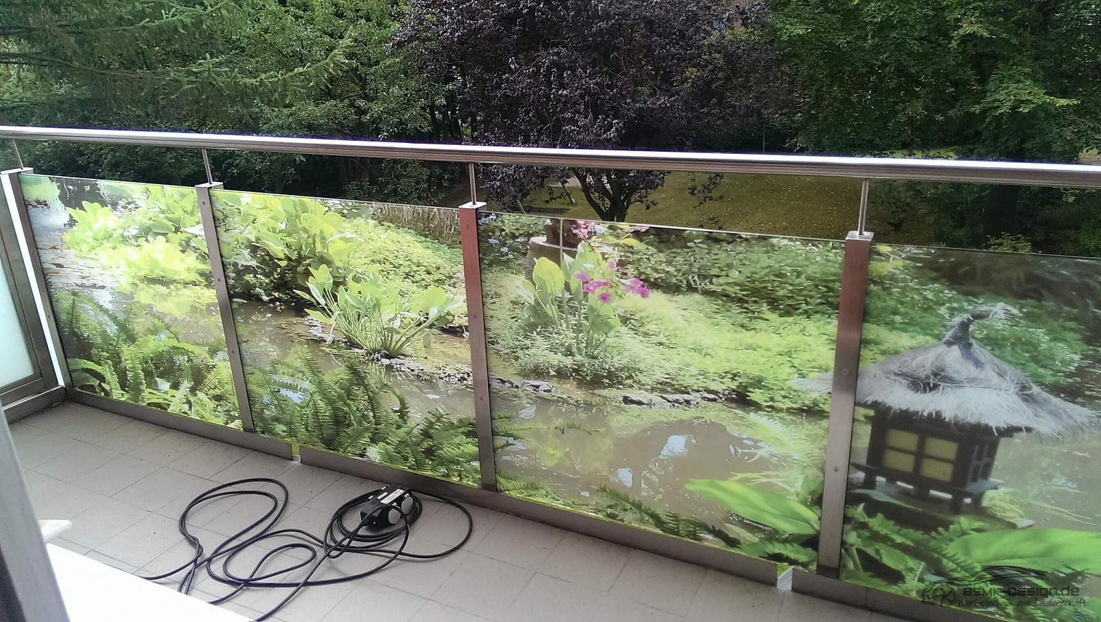 balkon bedruckte folie bsmk. Black Bedroom Furniture Sets. Home Design Ideas